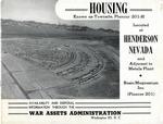 Basic Magnesium Plant - Townsite Housing Brochure, 1946