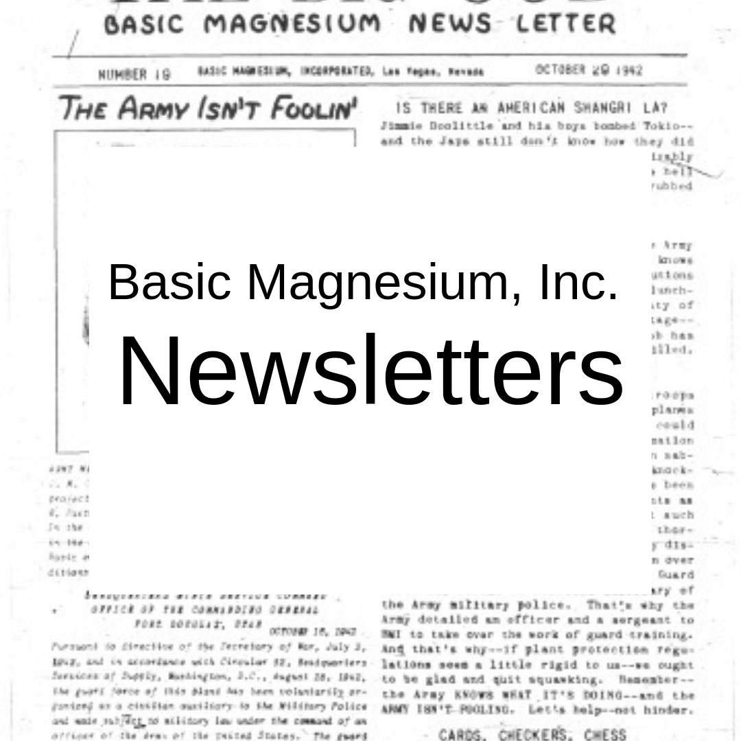 Basic Magnesium, Inc. Newsletters