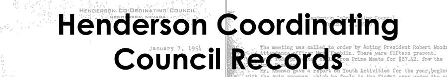 Henderson Coordinating Council Records